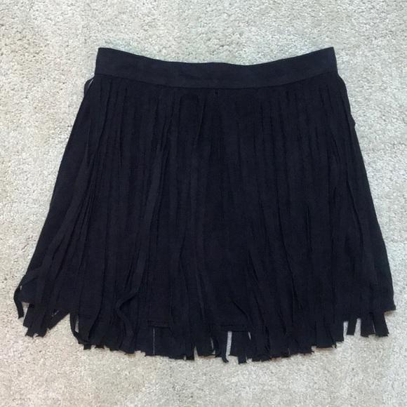 BB Dakota Dresses & Skirts - BB Dakota Suede Fringe Skirt